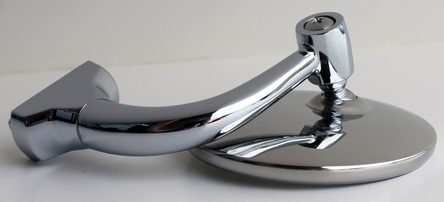 """CONVEX 3"""" Short Arm Peep Mirrors - PAIR Stainless Hot Rod NEW"""