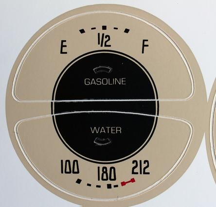 36-39 Speedometer Gauge Decals
