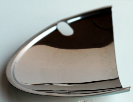 "Half Moon Headlight Covers 5 3/4"" stainless steel Set of 4 Quad set up"