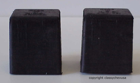 1940-1957 Chevy Truck Front Axle Rubber Bumper - Pair  #617