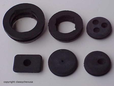 1960-1966 Firewall Grommet Set - 6 Pieces - ST207S