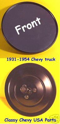 "1931-1954 Chevrolet Truck Mirror - ROUND RIBBED -  Black - 5"""