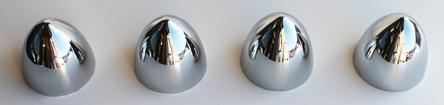 4 Bullet Nose Hub Cap Centers  C8055