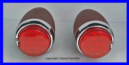 1939 Chevrolet Car Tail Light Assembly - LED - PRIMER - PAIR