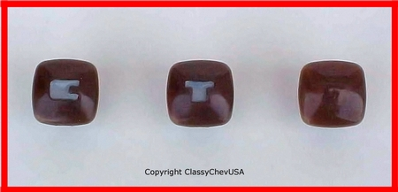 1940-1946 Chevrolet Truck Throttle, Choke, and Headlight Switch Knobs - 3PC