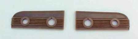 1946-1948 Chevrolet Car Choke & Throttle Backing Plates - Tan - PAIR