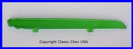 1947-1948 Chevrolet Car Plastic Insert for Accessory Hood Ornament - GREEN