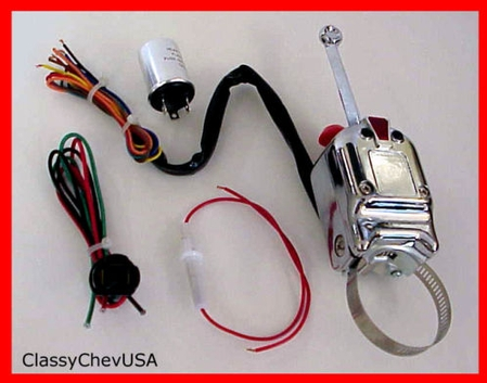 Heavy Duty Universal Turn Signal Directional Switch KIT - 6V - 3 PC