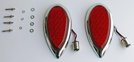 1938 1930 Ford Flush Mount LED Custom Tail Lights - PAIR