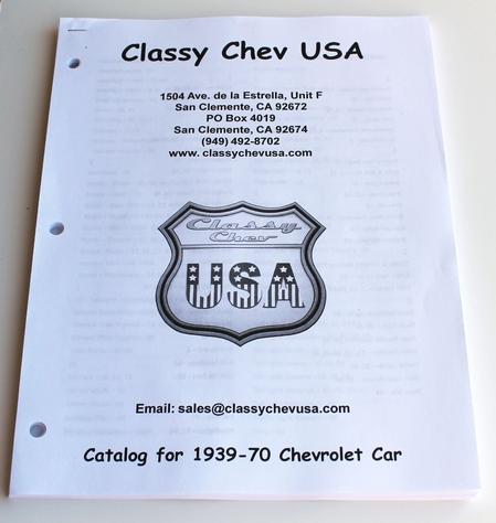 1939-1970 ClassyChevUSA Catalog for Cars