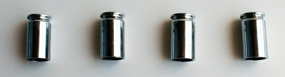 Chrome Bullet Casing Valve Stem Caps Chrome Metal Set of 2