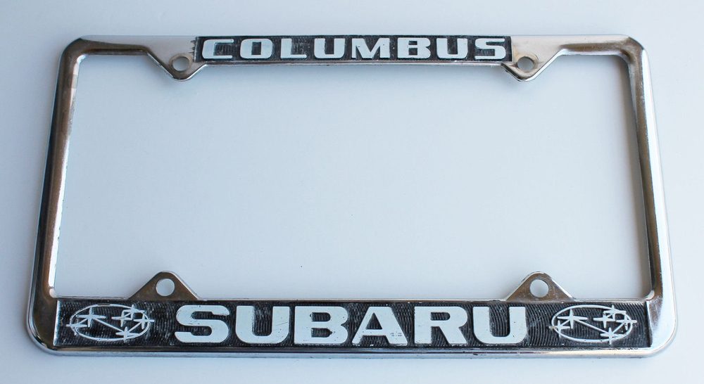 Columbus Subaru License Plate Frame 6 x 12
