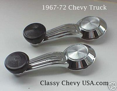 1967-1972 Chevy Truck Interior Window Cranks Pair