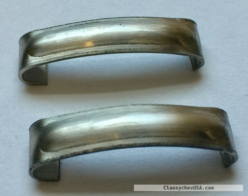 1935-38 PLYMOUTH & DODGE TRUCKS Windshield Frame Joint Cover Pair SS