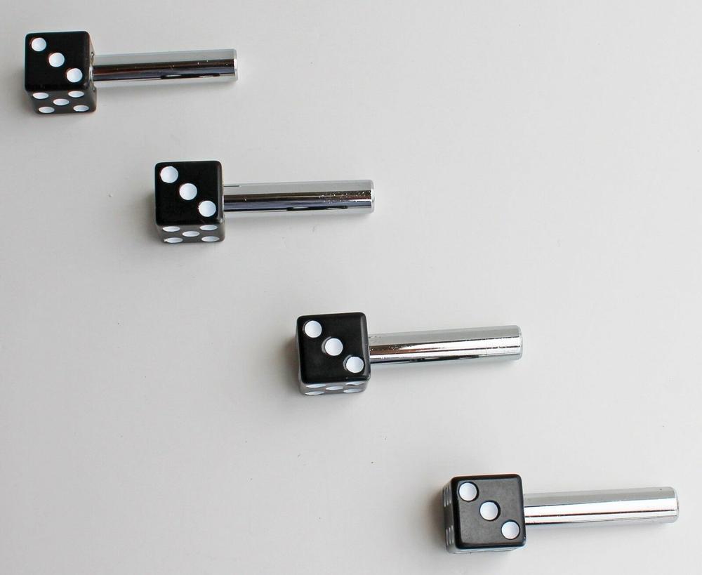 Black Dice Door Lock Knobs 4 Pieces
