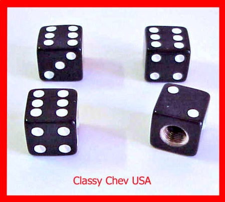 Black Dice Valve Stem Caps - 4 Pieces