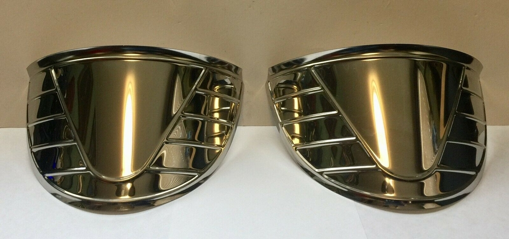 "7"" Ribbed Headlight Visors 1939 - 1948"
