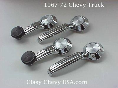 1967-1972 Chevrolet Truck Interior Window Crank & Handle Set