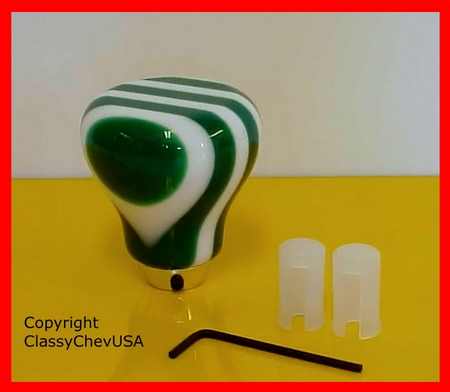 GREEN 9 Layer Gear Shift Knob