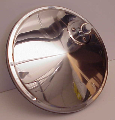 "7"" Convex Truck Mirror Stainless Steel Off Set Mount"
