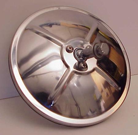 """6"""" Convex Truck Mirror Stainless Steel Center Mount"""