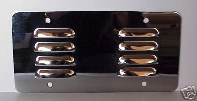 Louvered Stainless Steel License Plate Backer Blank