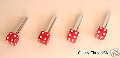 Red Dice Lock Knobs - 4 Pieces