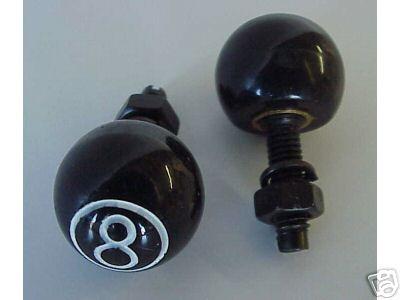 8 Ball Black License Plate Bolts