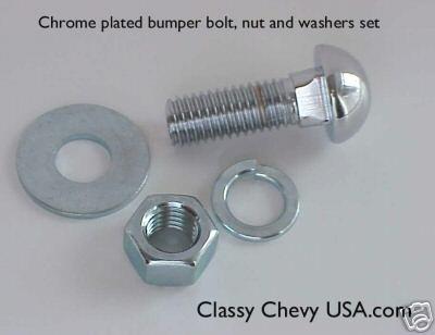 1942-1954 Chevrolet Bumper Bolts - Chrome - 10 Pieces