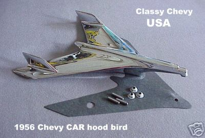 1956 Chevrolet Bel Air Bird Hood Ornament