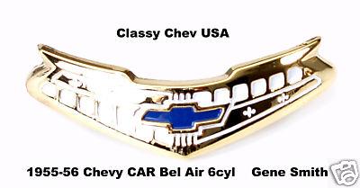 1955-1956 Chevrolet Bel Air 6 Cylinder Horn Cap Emblem