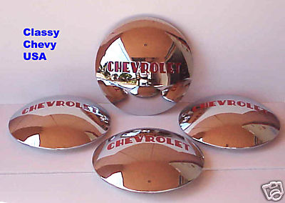 1947-1953 Chevrolet Truck Hubcaps - Chrome - Set of 4