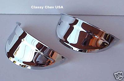 """7"""" Chrome Heavy Duty Visors for Sealed Beam Headlights - PAIR"""