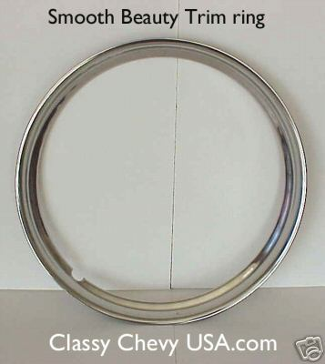 "16"" Stainless Steel SMOOTH Beauty Trim Rings"