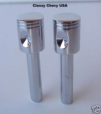 Piston Door Lock Knobs - 2 Piece Set