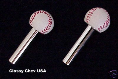 Baseball Lock Knobs - 2 Pieces