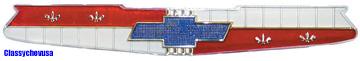 1956 & 1958 Chevrolet 6 Cylinder Hood Plastic Emblem - TP1390