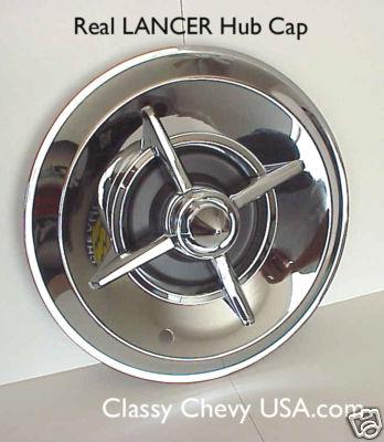 """15"""" Chromed Steel Lancer Hub Caps - Set of 4"""
