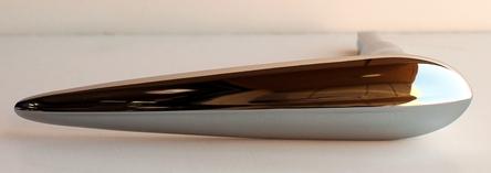 1934 35 36 37 38 Chevy PANEL TRUCK Ext Chrome Door HANDLES 2 PC w Escutcheon